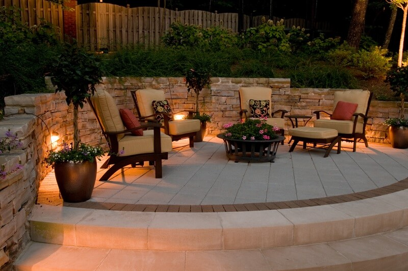 Patio Lighting by OLP Charlotte