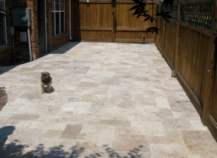 Pet Friendly Charlotte Travertine Patio in Rock Hill SC