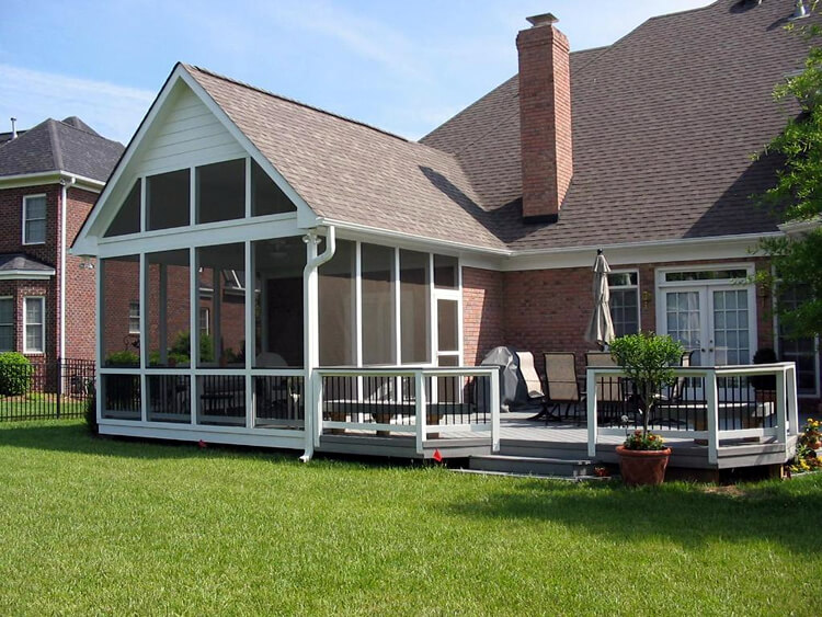 screened porch and composite deck