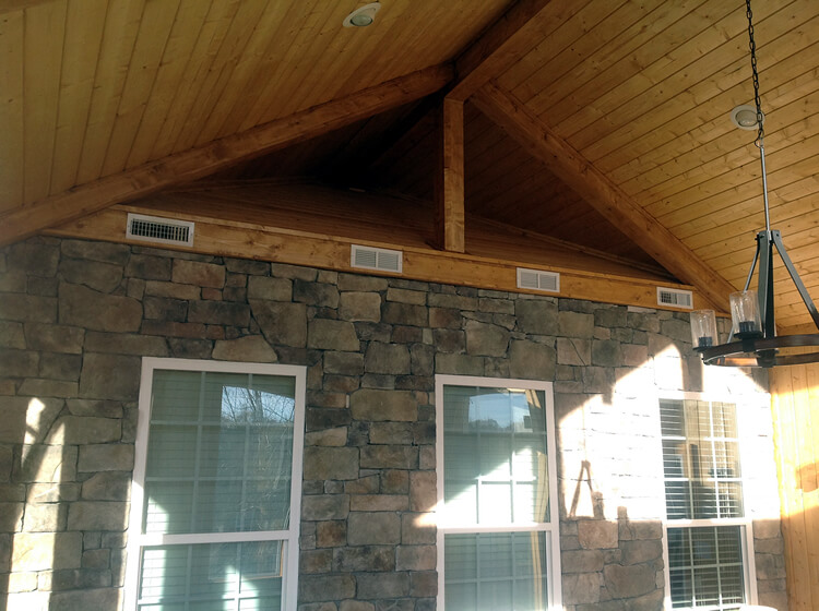 tongue and groove porch ceiling design