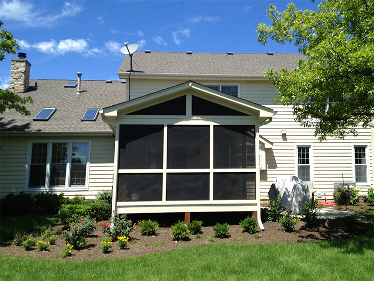 gable roof screened porch
