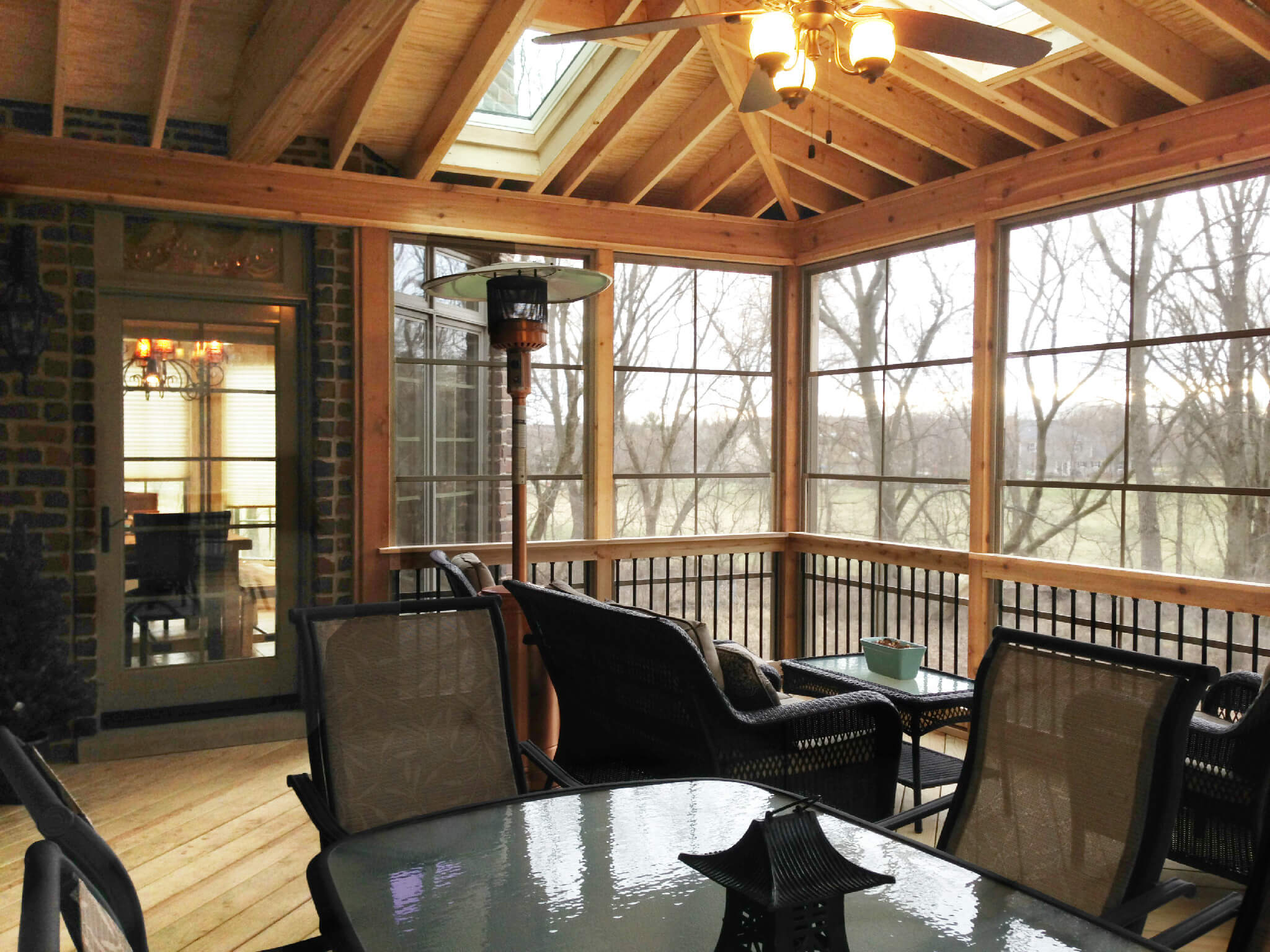 Screen Porch with Skylights