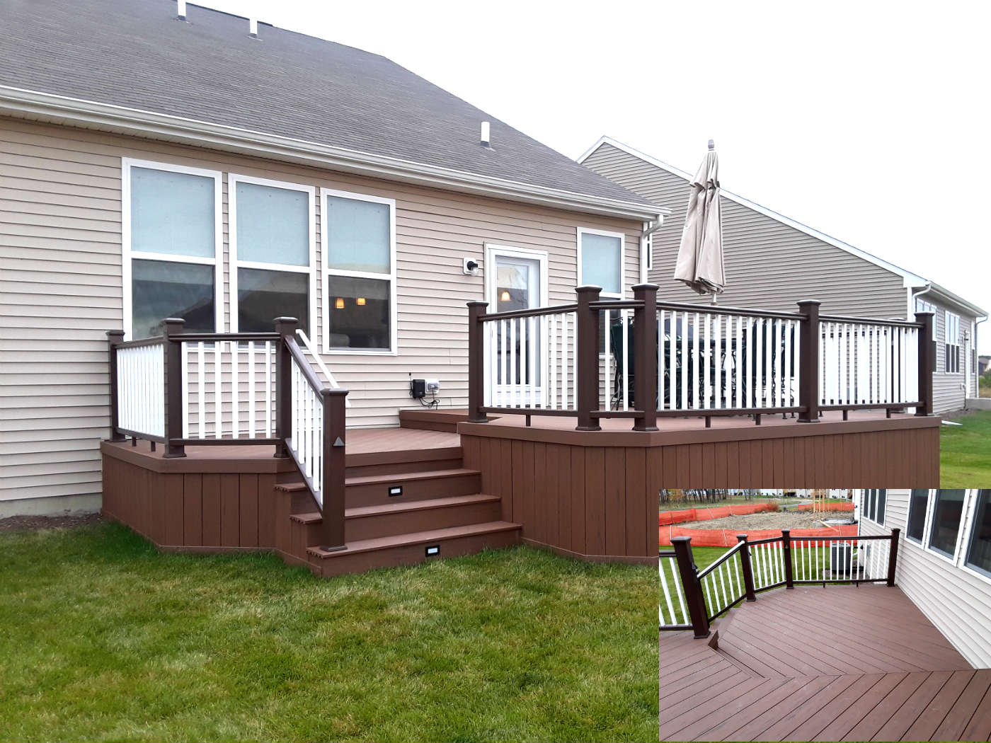 Multi-level Timber Tech low maintenance deck