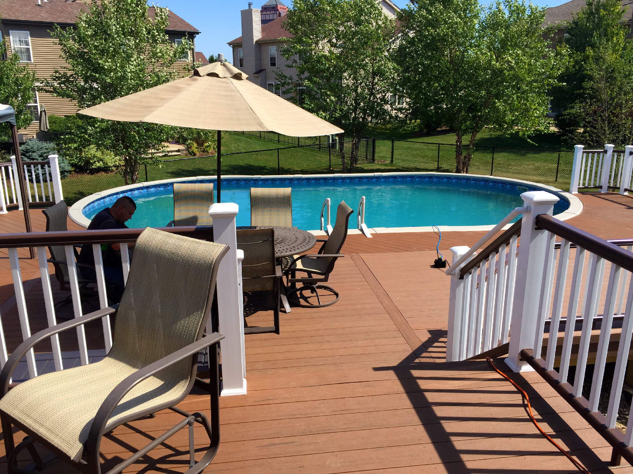 Custom composite pool deck