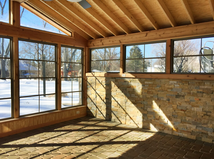 screened in patio porch