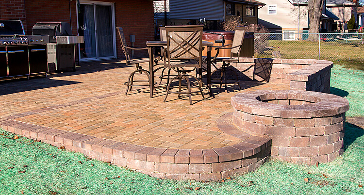 Fire pit patio design