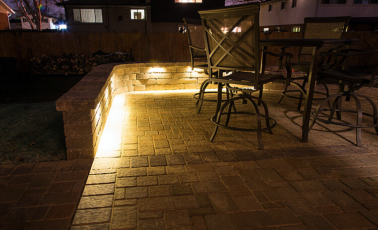 Patio lightning design