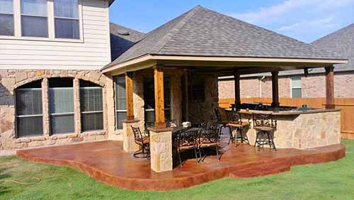 covered porch frisco texas
