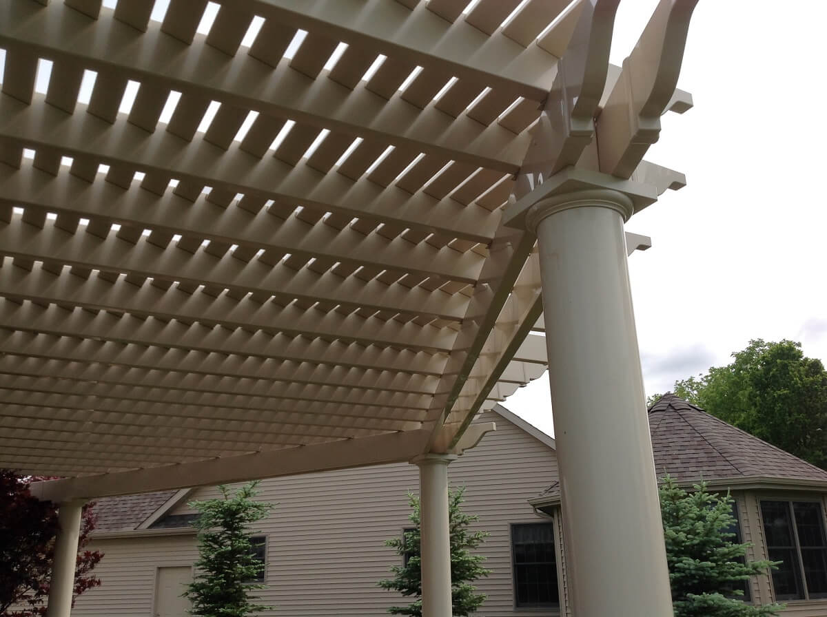 Underside of pergola to show design