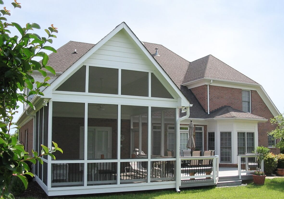 Custom deck and screened porch