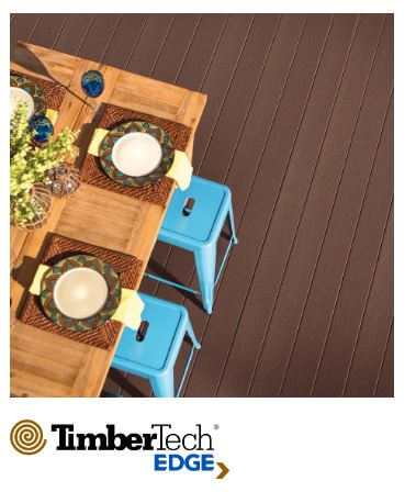 Dining table on deck