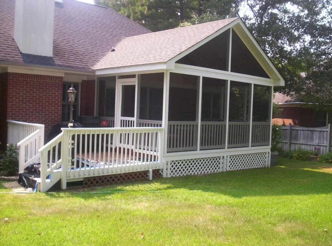 Custom backyard screened porch and deck