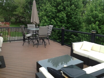 PVC deck with furniture