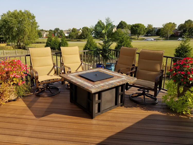 Custom backyard cozy deck