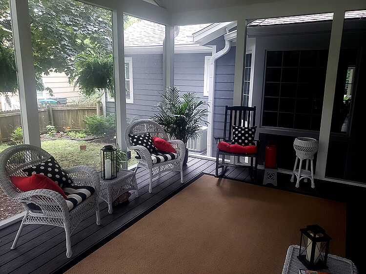 Custom screened porch