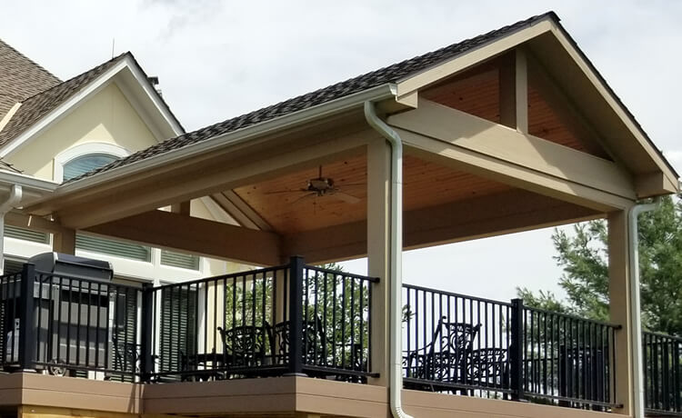 Custom roofed deck