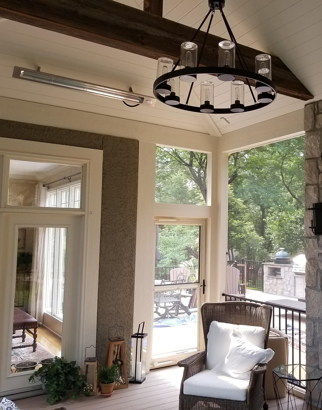 Screened porch lighting details