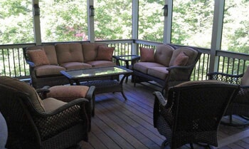 screened in porch with ipe custom floor