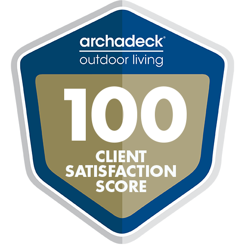 Logo: Archadeck Outdoor Living 100 Client Satisfaction Score