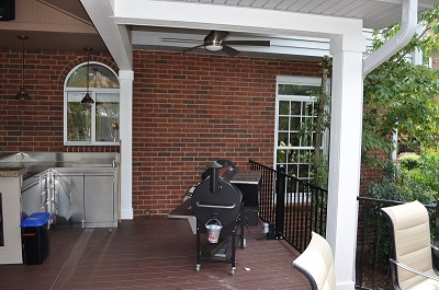 open porch and low maintenance deck combination