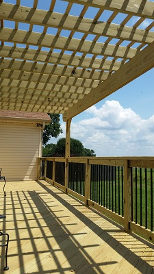 second level deck with pergola