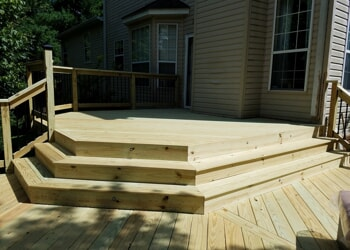 nashville wooden deck with wide stairs