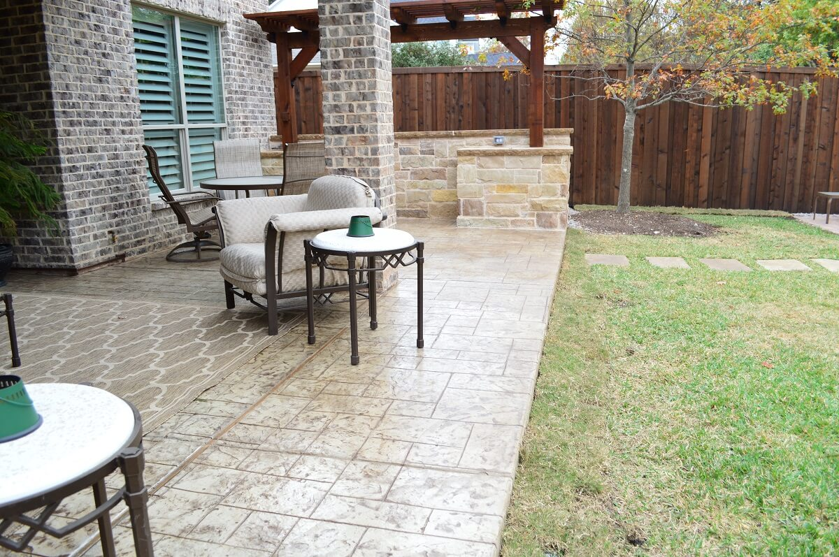 Paver Patio with a pergola