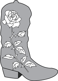 cowboy boot with rose