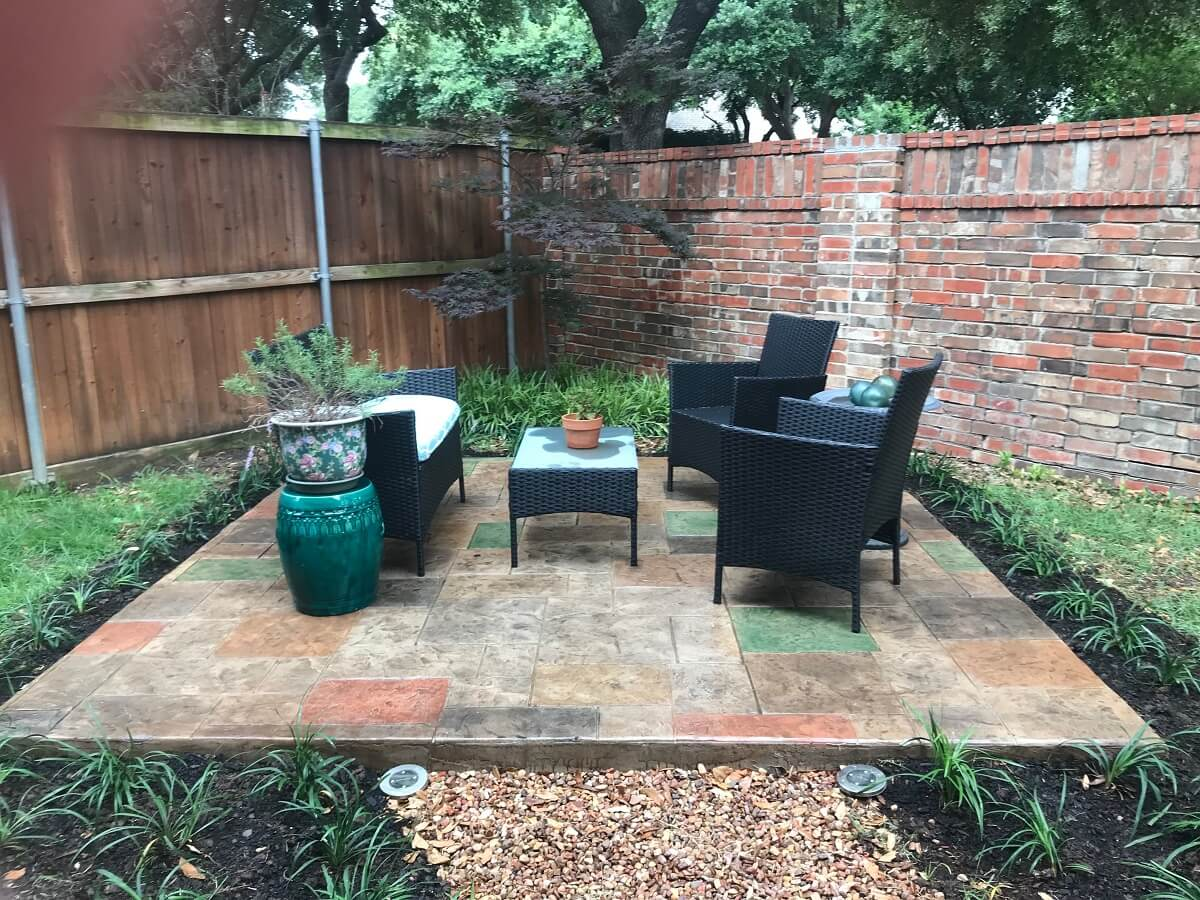 Color Stain and stamp patio