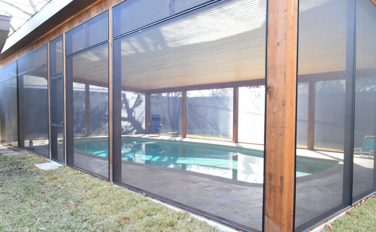 screened pool patio