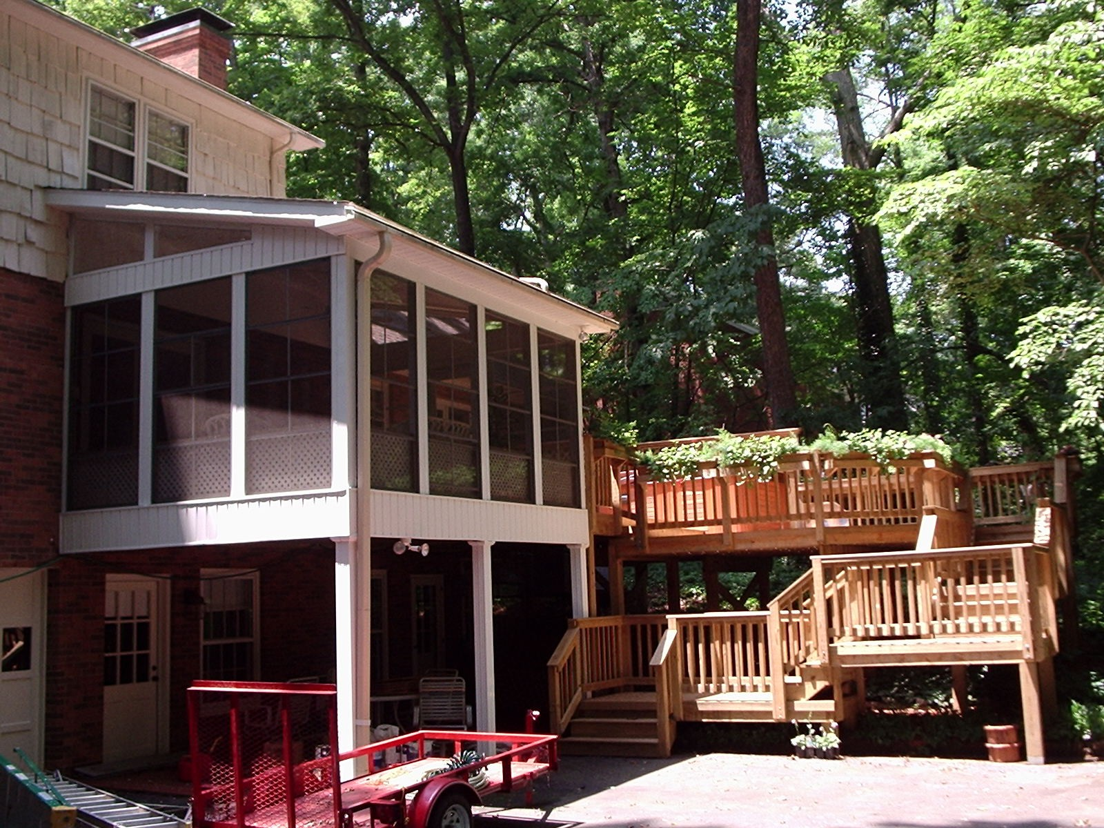 Deck and screened porch combination
