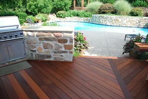 Wood pool deck