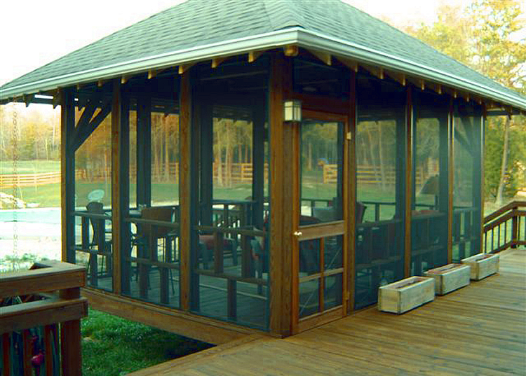 ​​​​Custom detached screened porch