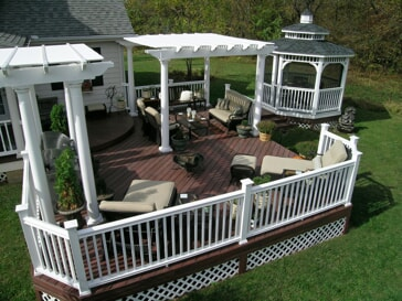 composite deck and vinyl gazebo