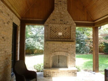 Fireplace on Covered Patio