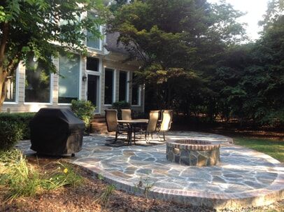 flagstone fire pit