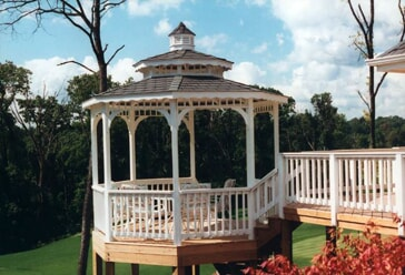 pergola on multi level elevated deck