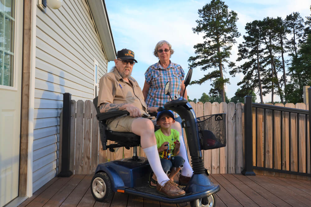 Vietnam Veteran and his new TimberTech Ramp and Deck