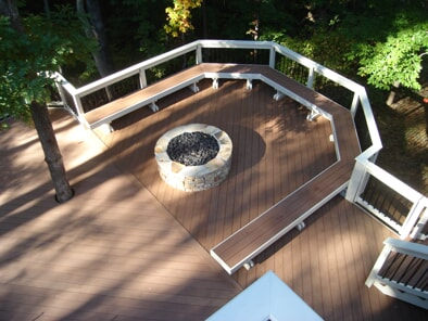 Outdoor Deck with Firepit