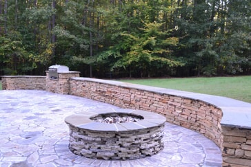 recycled granite outdoor fire pit