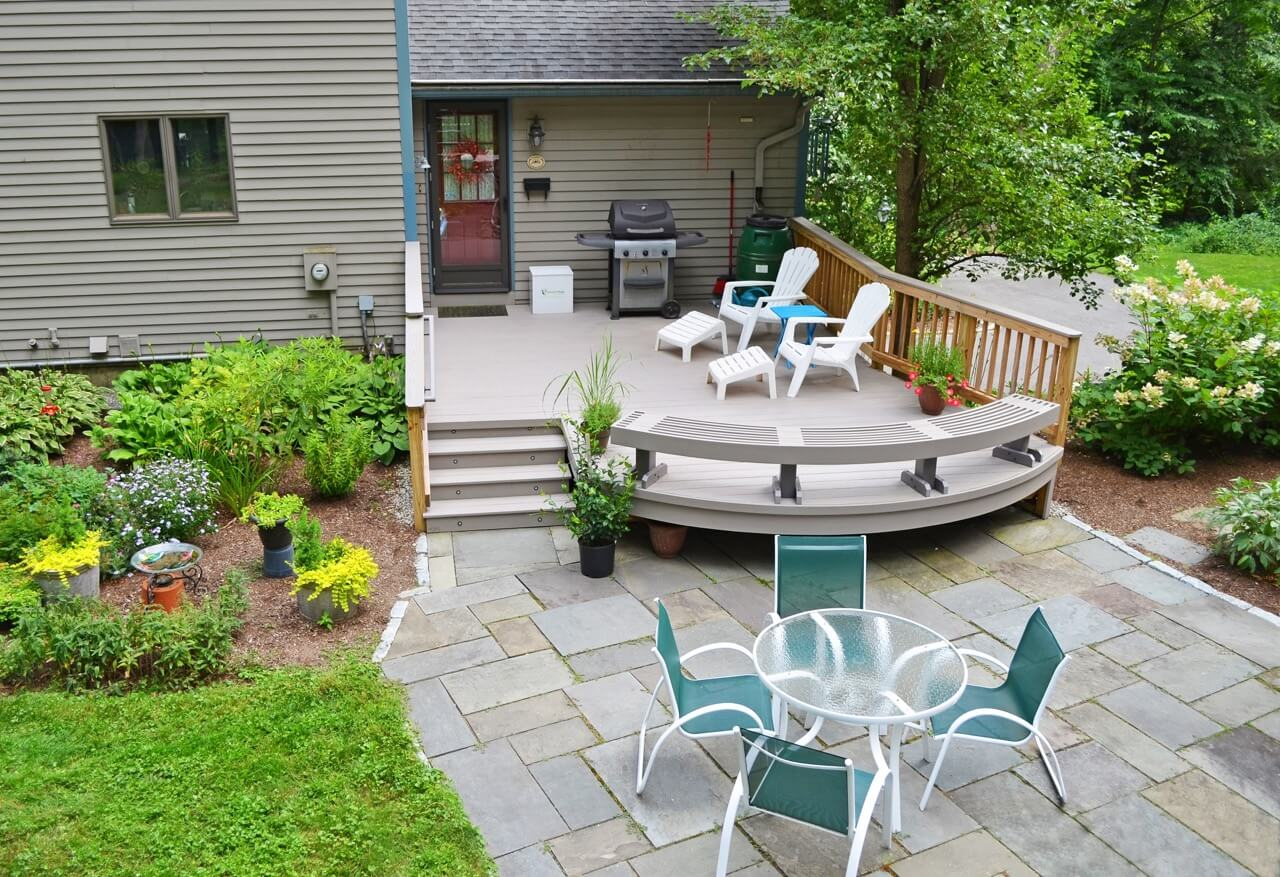 curved composite decking