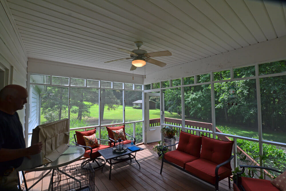 Custom interior screened porch
