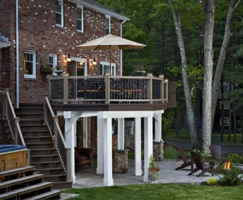 Custom Multi Level Deck with Patio