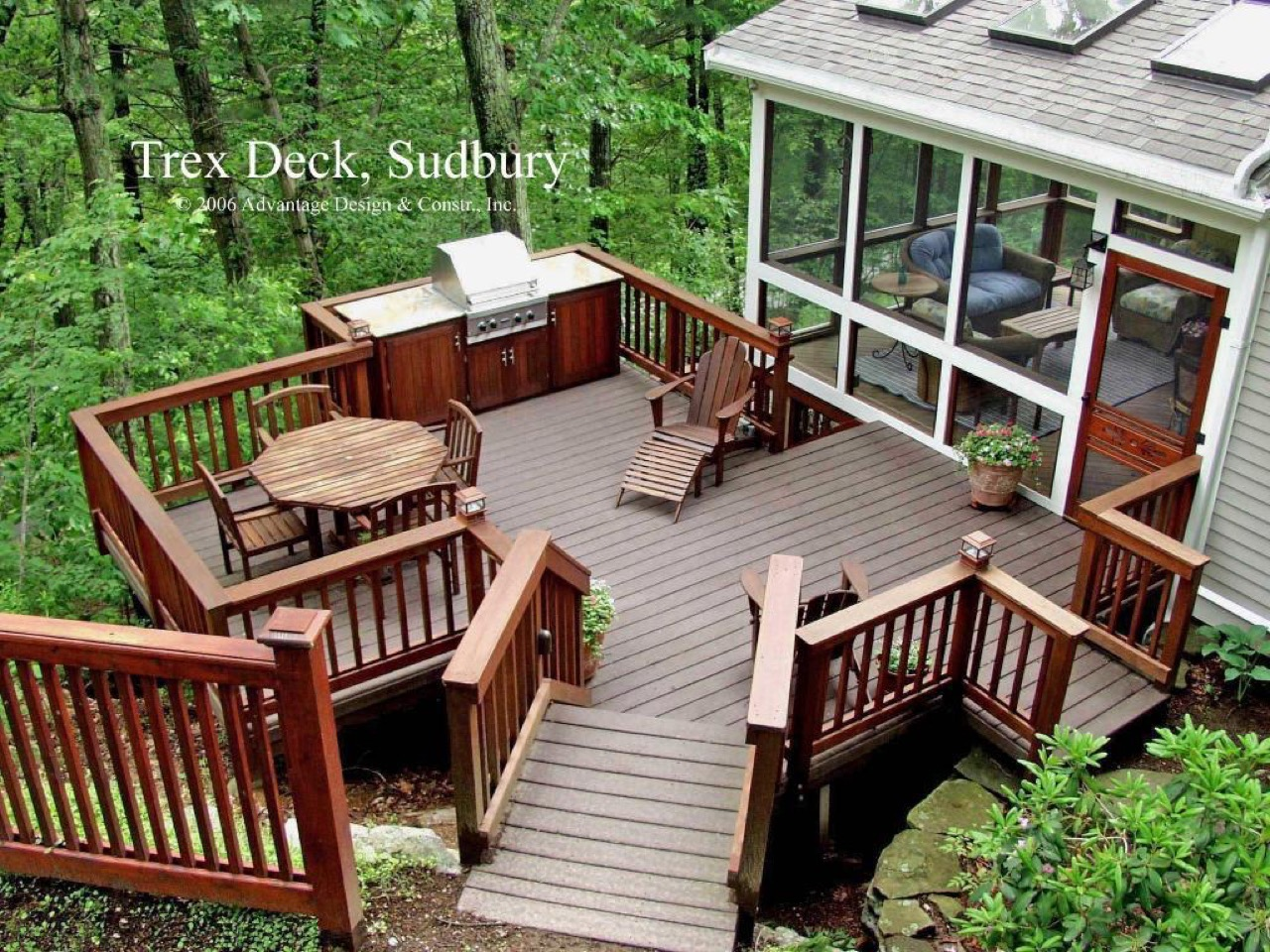 Screened porch and deck combo