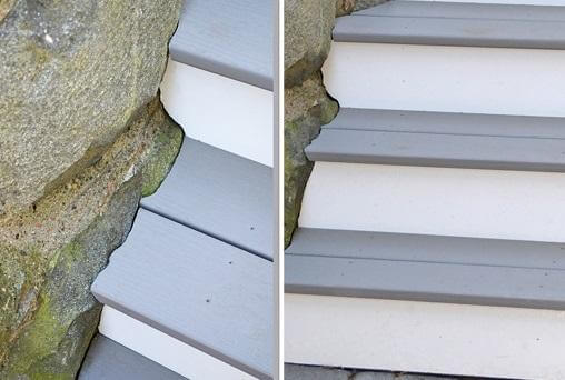 Grey and white stairs