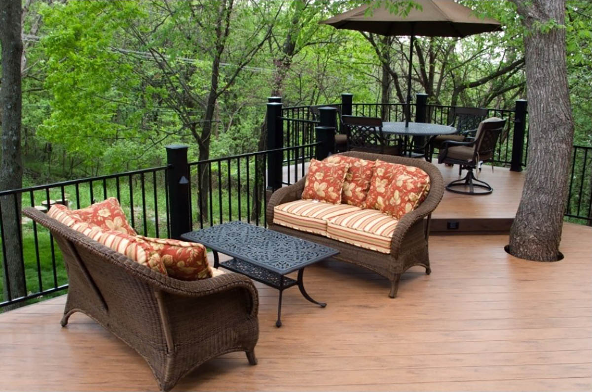 Deck with seating