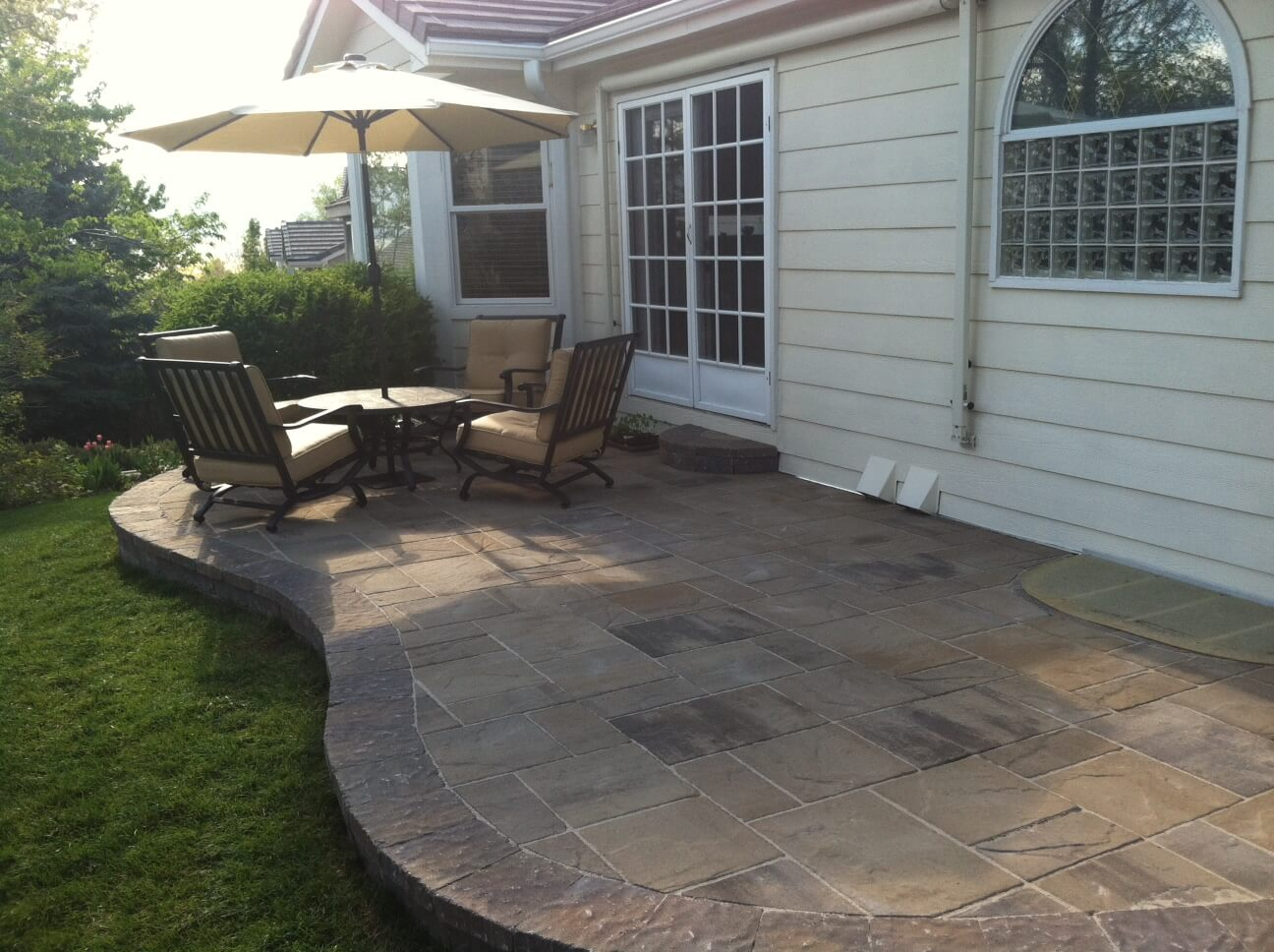 Seating area on patio