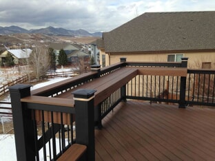 composite deck with bar top
