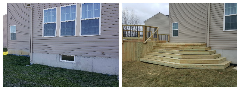 Before and after deck project