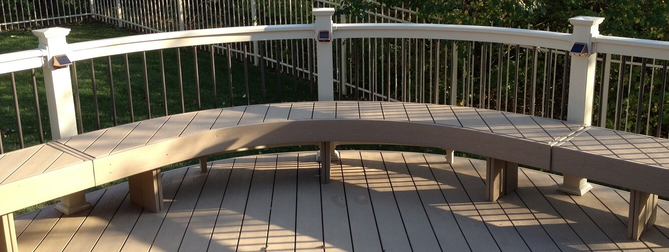 Deck with custom bench
